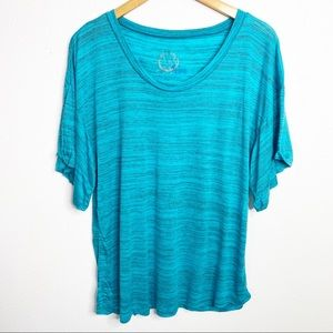 Blue Life Planet Blue Oversized Blue T-Shirt Small